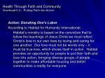 health through faith and community overhead 6 3 putting faith into action