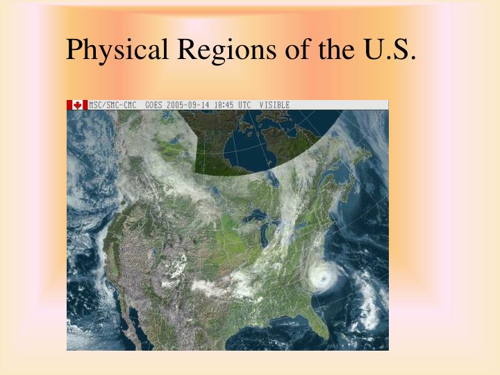 Physical regions of the u s