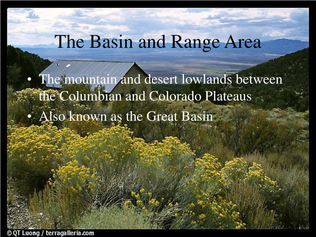 The Basin and Range Area