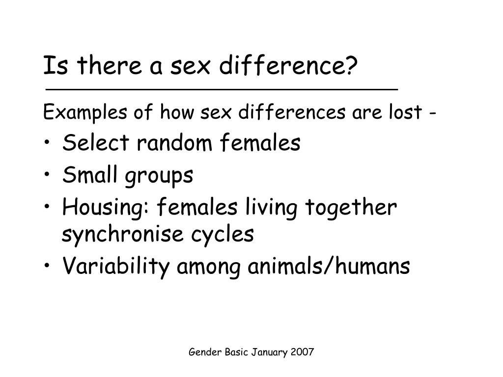 Is there a sex difference?
