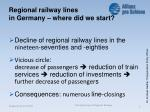 regional railway lines in germany where did we start