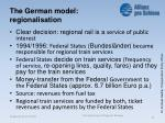the german model regionalisation