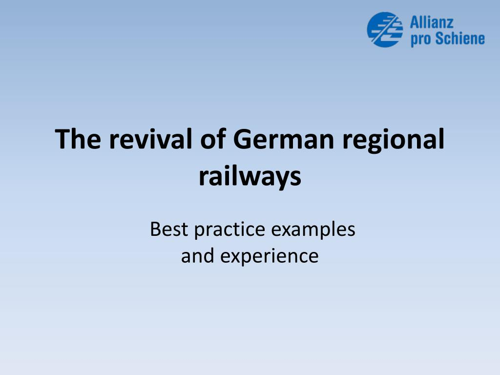 the revival of german regional railways l.