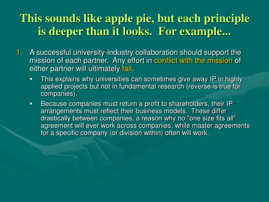 This sounds like apple pie, but each principle is deeper than it looks.  For example...