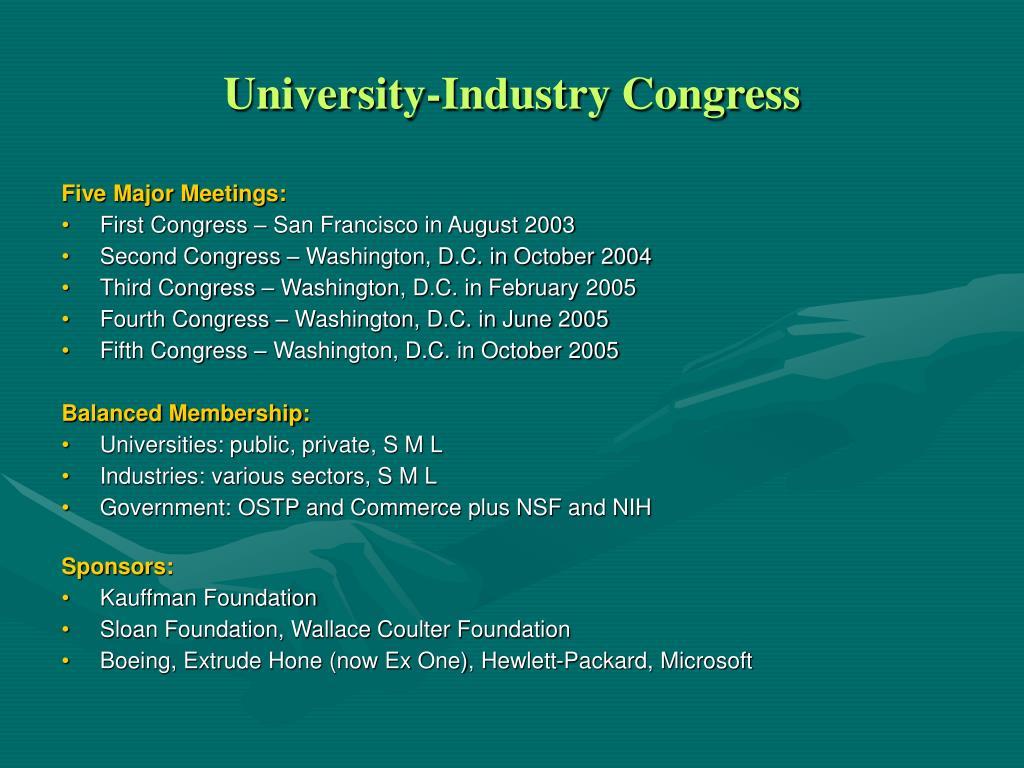 University-Industry Congress