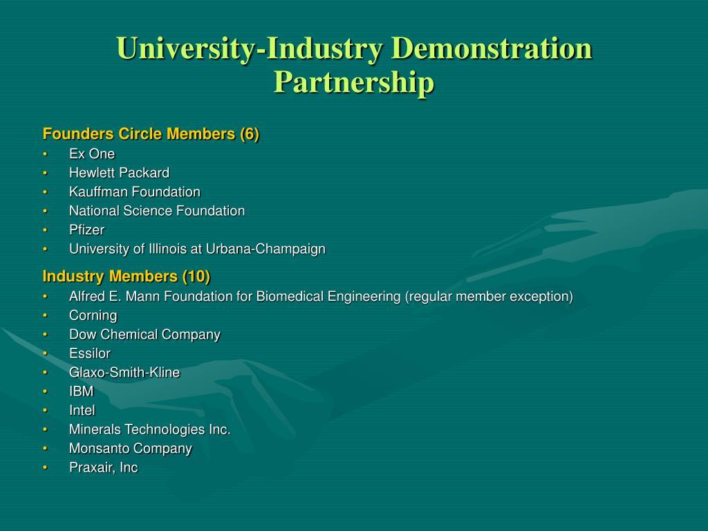 University-Industry Demonstration Partnership