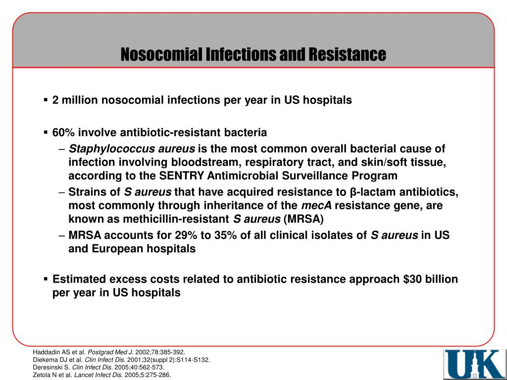 nosocomial infections critical appraisal