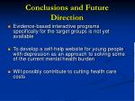 conclusions and future direction