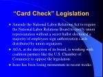 card check legislation