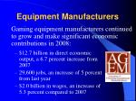 equipment manufacturers