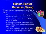 racino sector remains strong