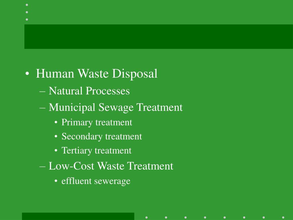 Human Waste Disposal