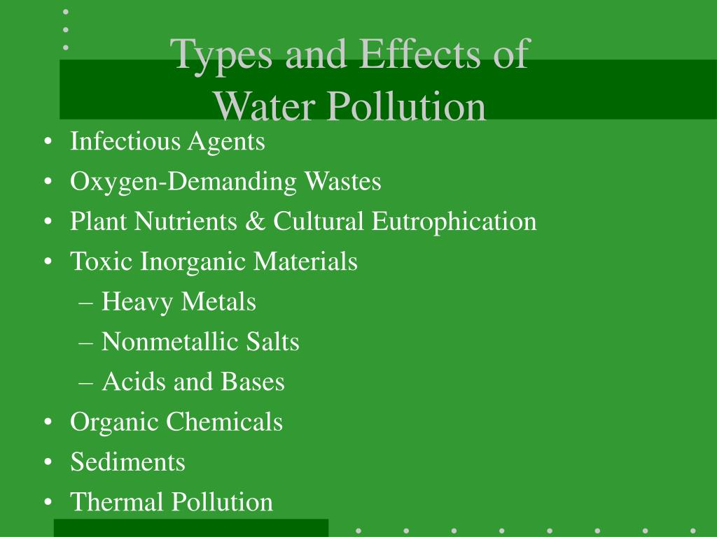 Types and Effects of