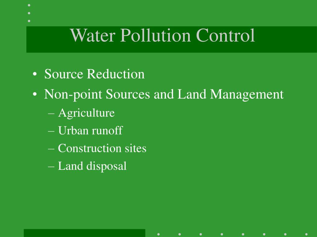 Water Pollution Control
