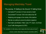 managing matchday travel