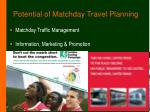 potential of matchday travel planning9