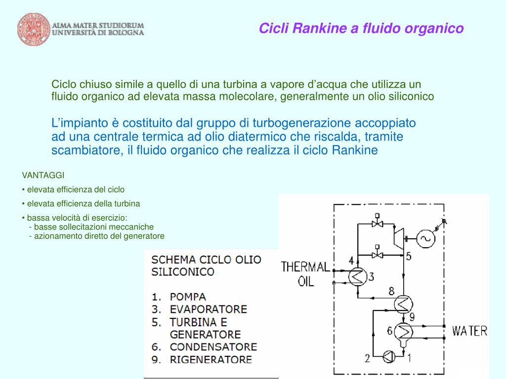 Cicli Rankine a fluido organico