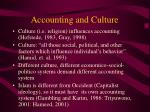 accounting and culture