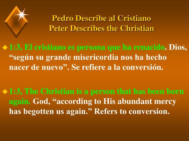 Pedro describe al cristiano peter describes the christian3