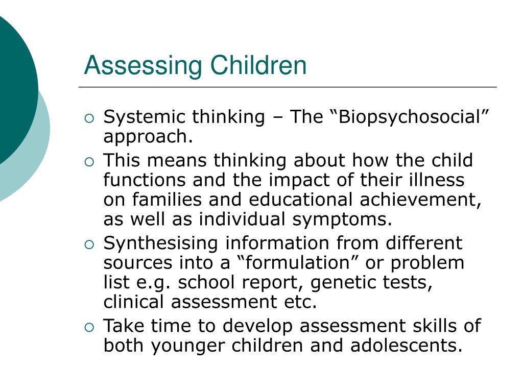 Assessing Children