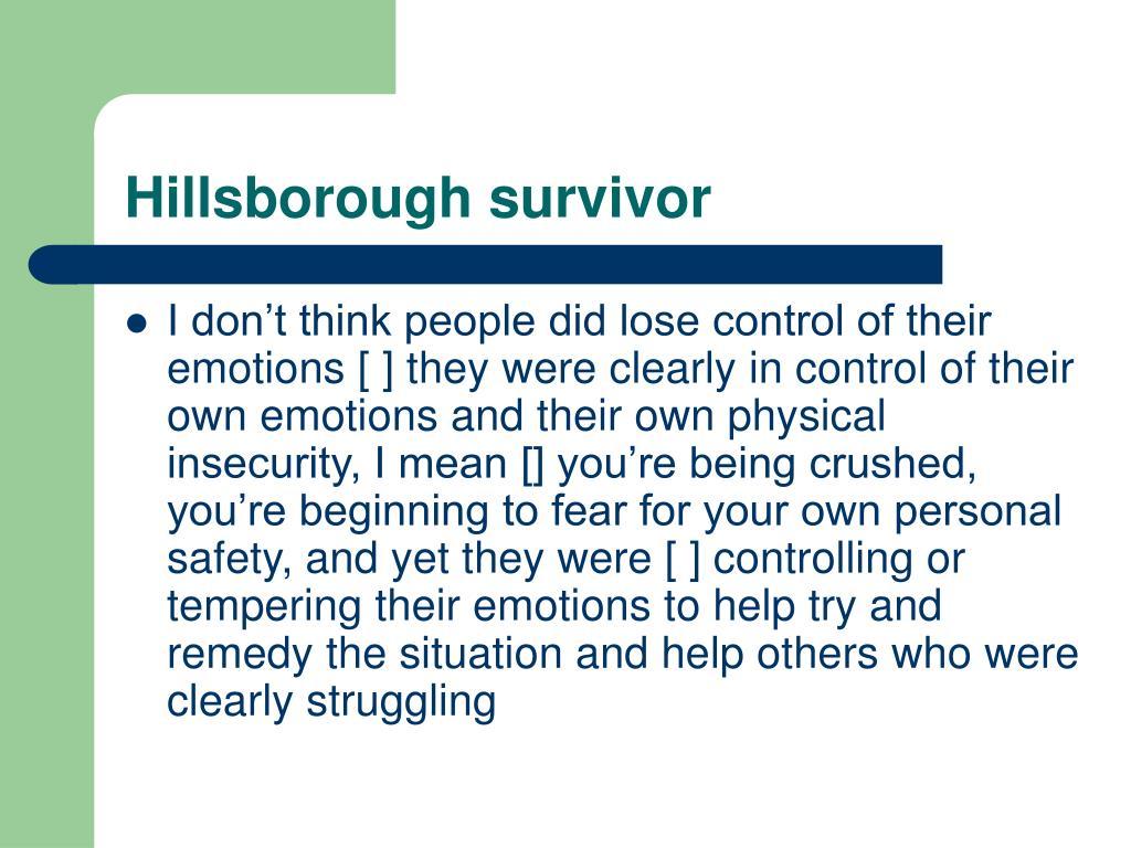 Hillsborough survivor