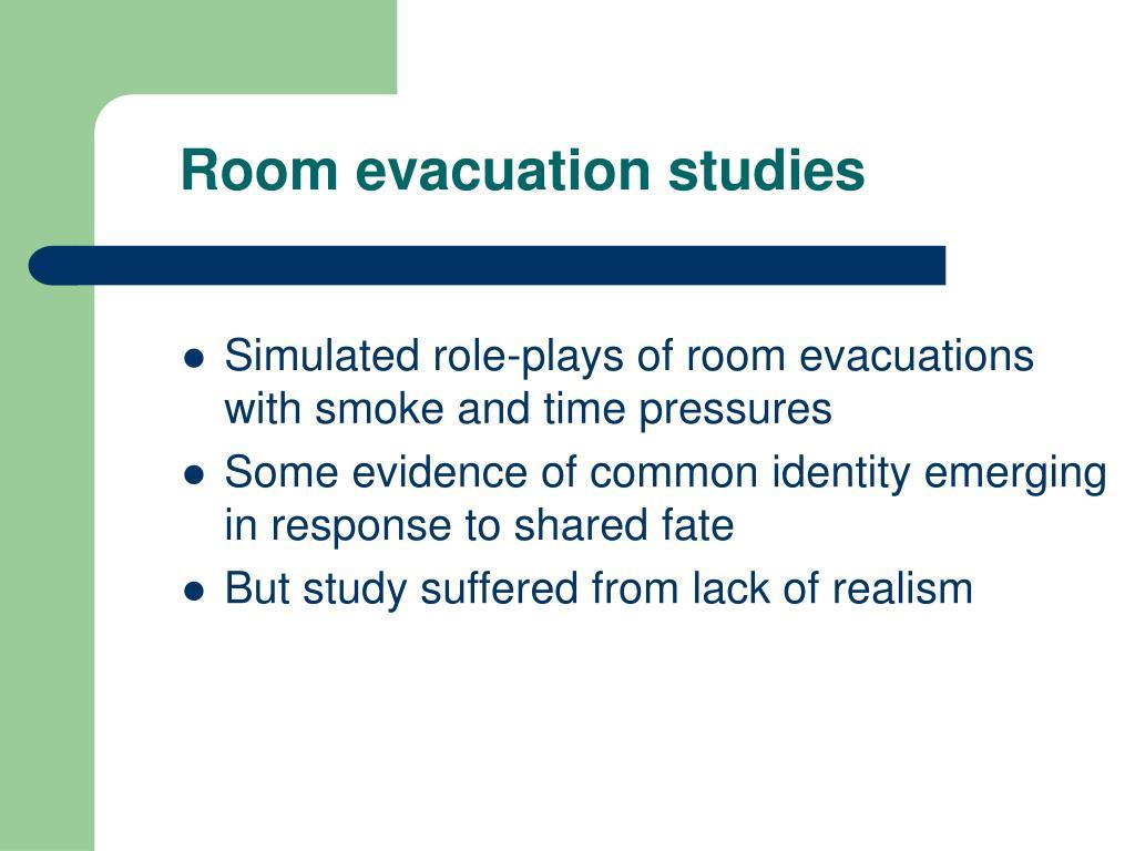 Room evacuation studies