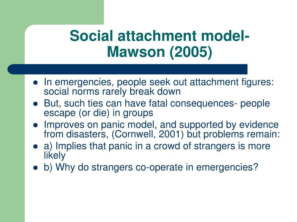 Social attachment model-