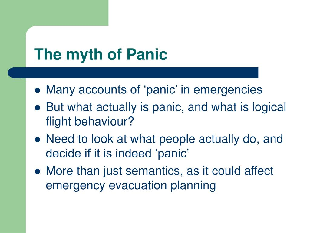 The myth of Panic