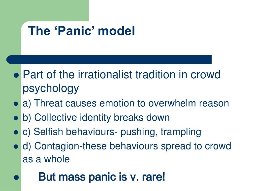 The 'Panic' model