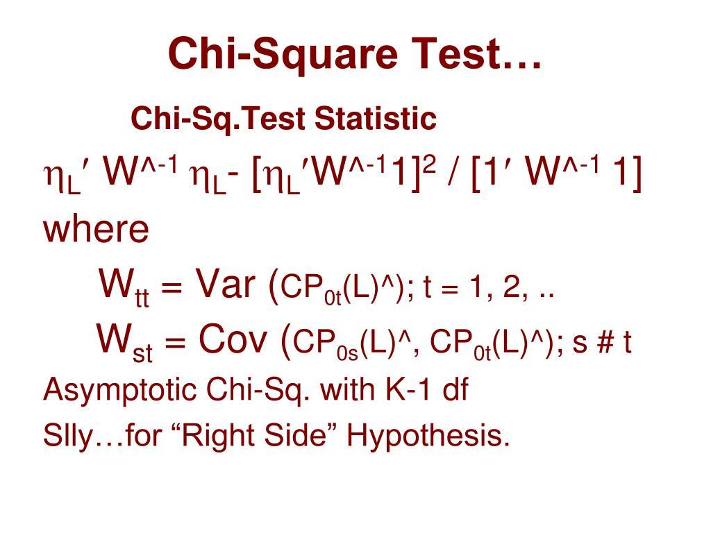 Chi-Square Test…
