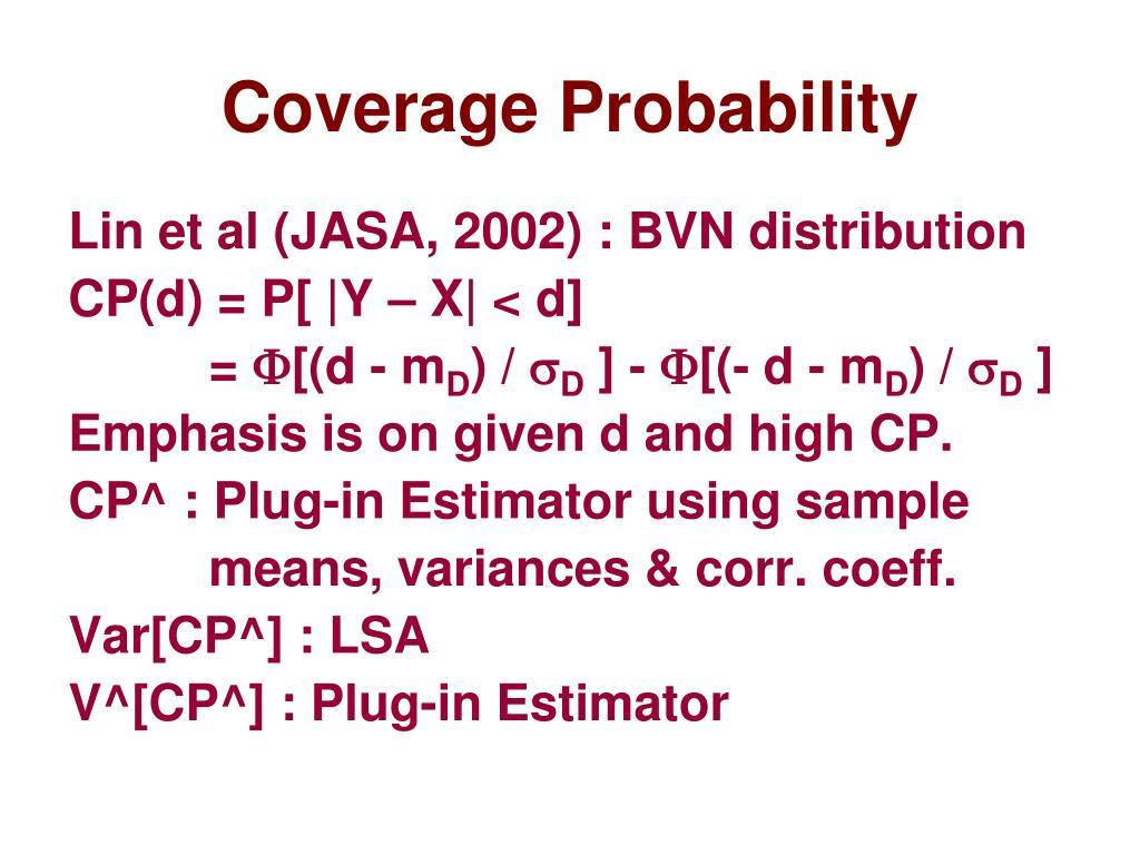 Coverage Probability