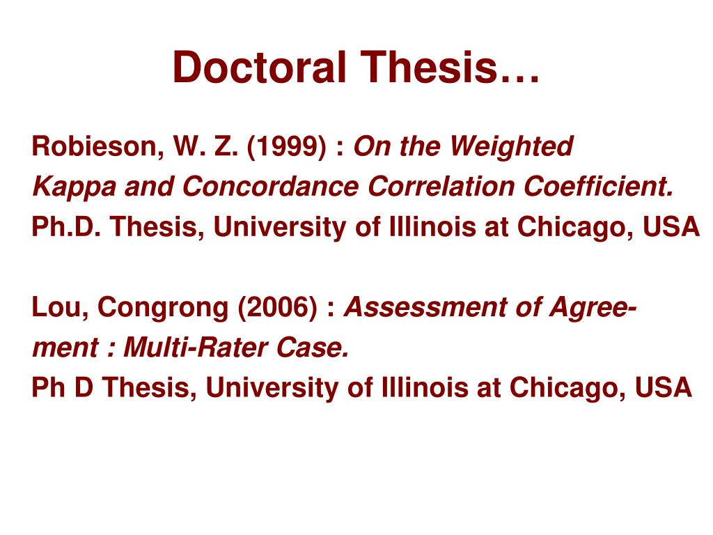 Doctoral Thesis…