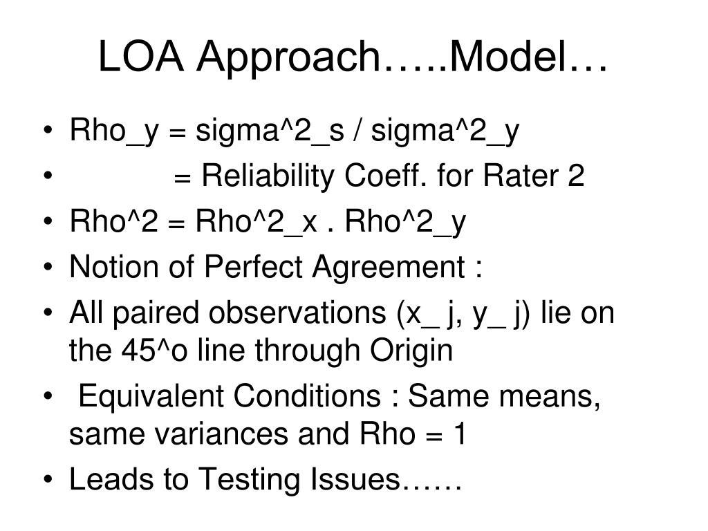 LOA Approach…..Model…