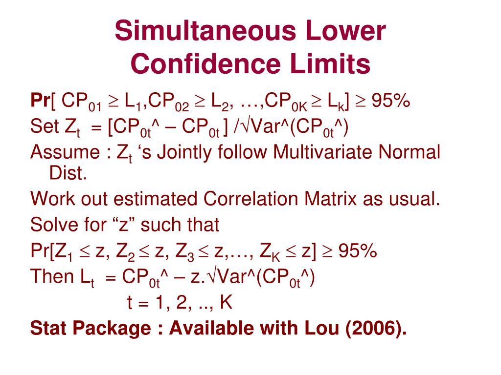 Simultaneous Lower
