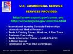 u s commercial service