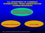 u s department of commerce international trade administration tourism resources