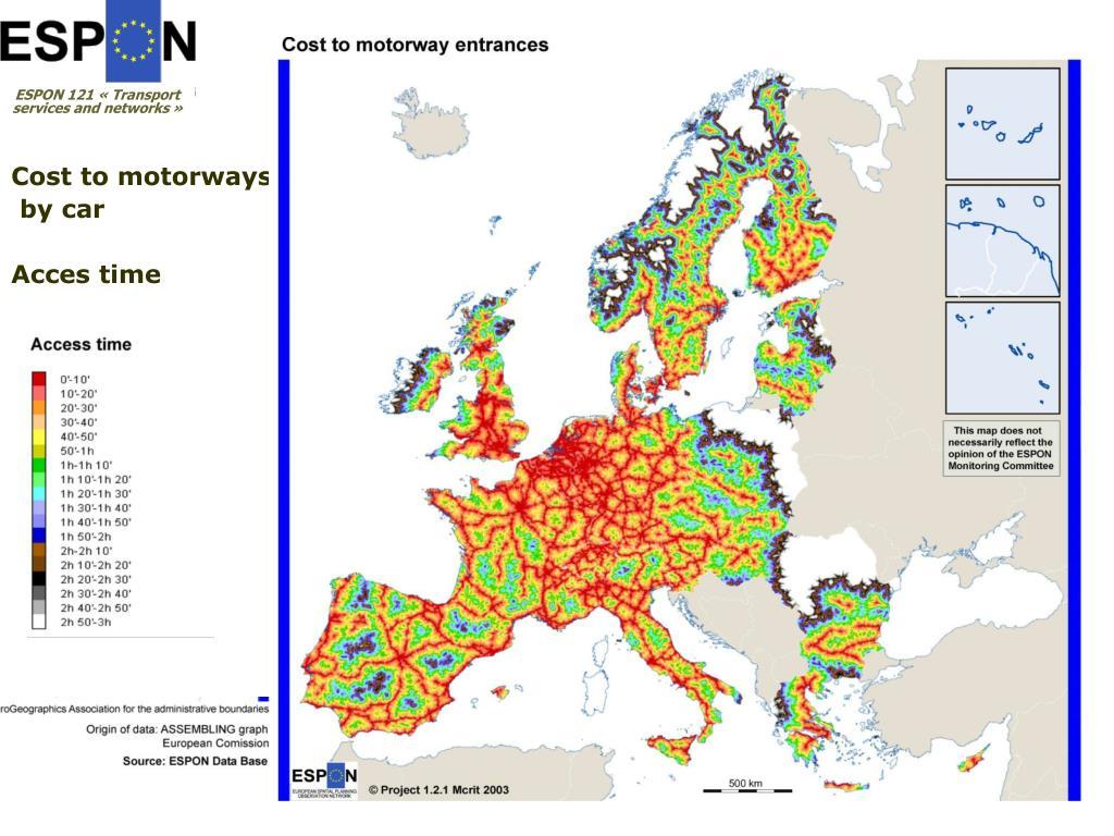 Cost to motorways