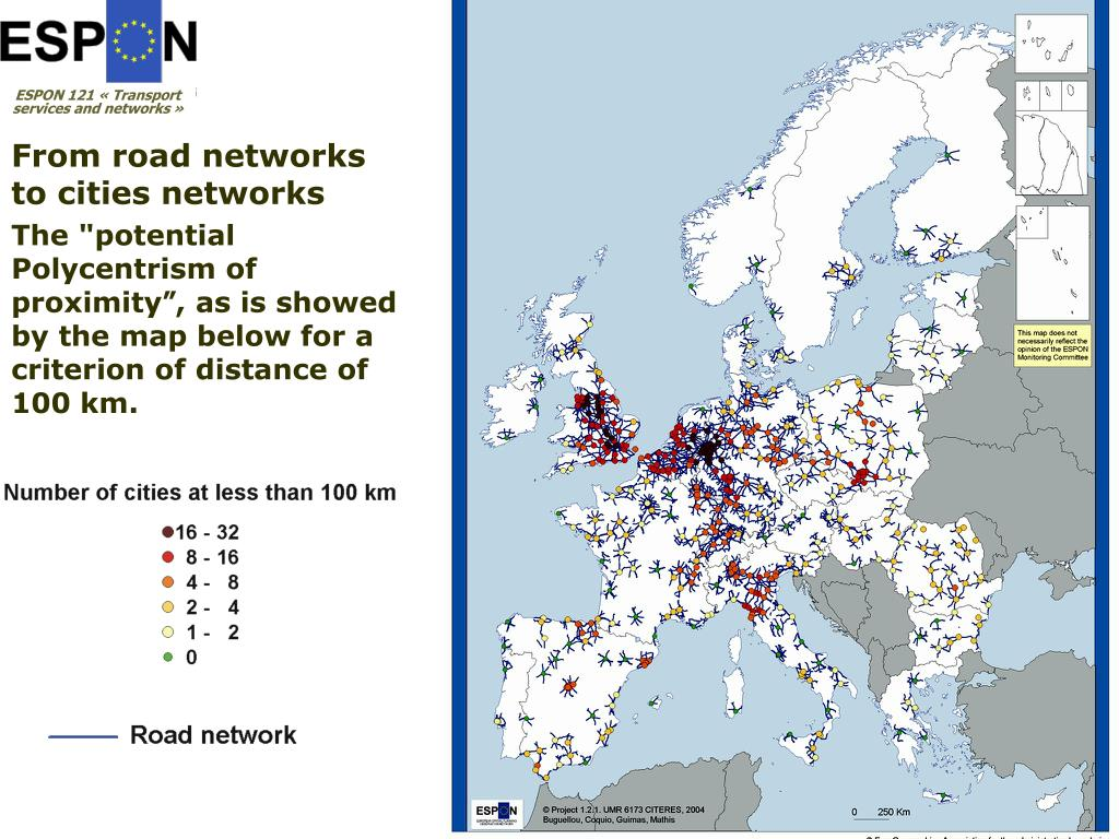 From road networks to cities networks