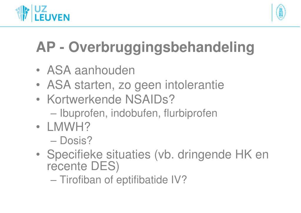 AP - Overbruggingsbehandeling