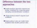 difference between the two approaches