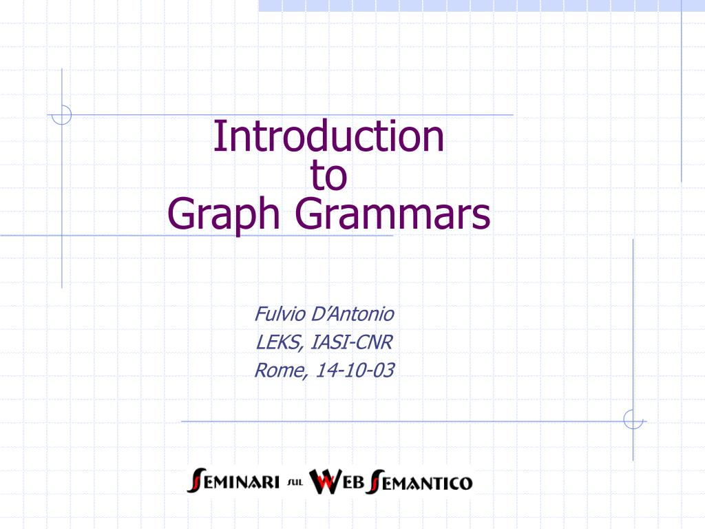 introduction to graph grammars l.