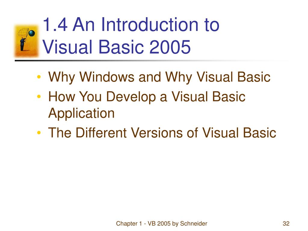 1.4 An Introduction to                 Visual Basic 2005