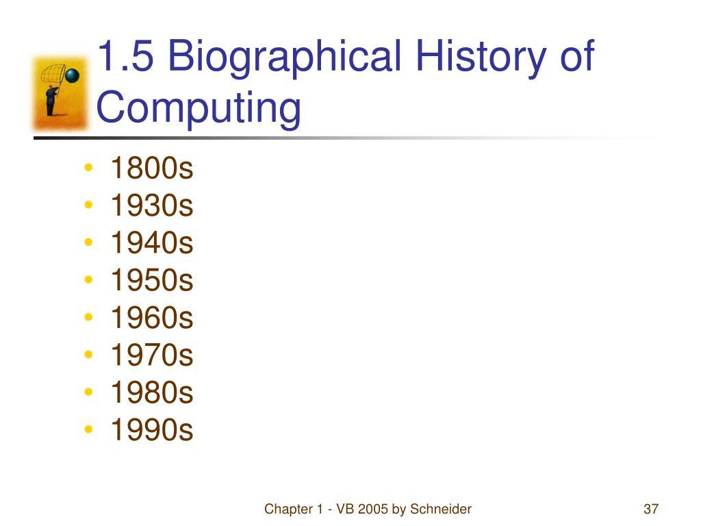 1.5 Biographical History of Computing