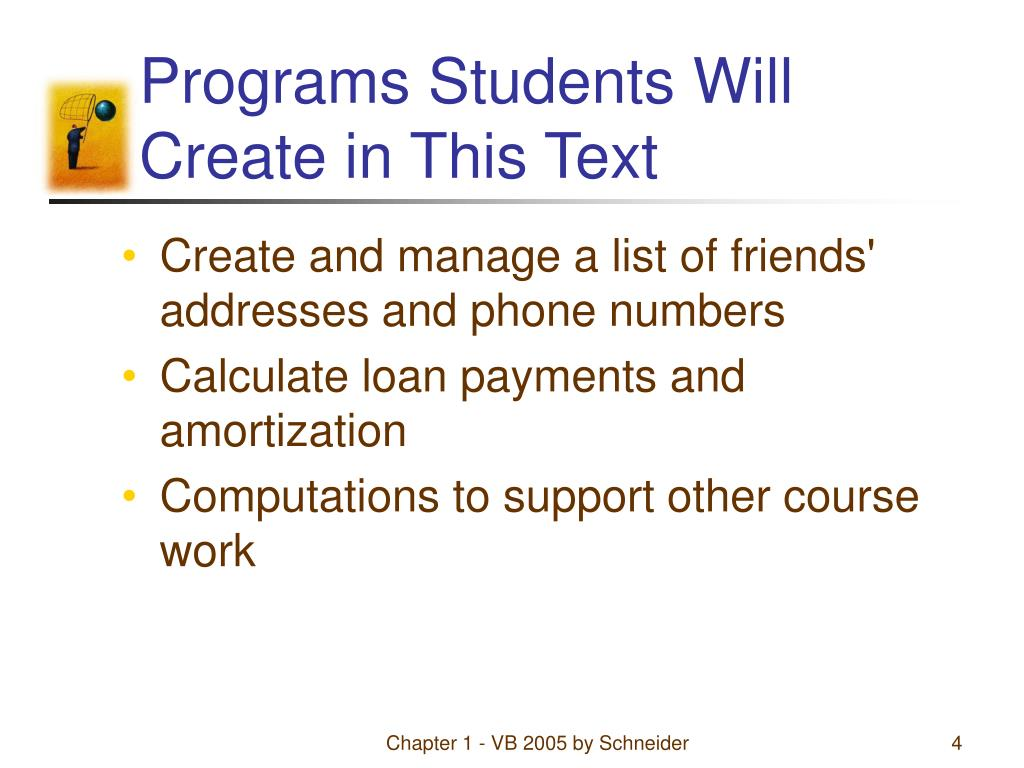 Programs Students Will Create in This Text