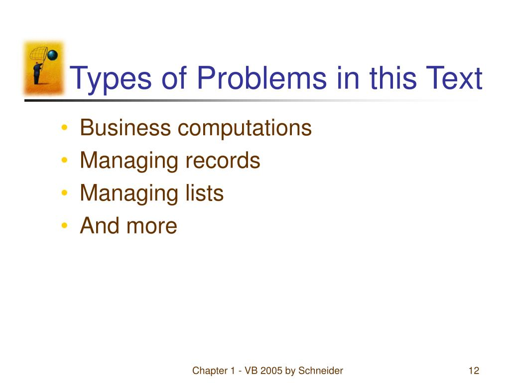 Types of Problems in this Text