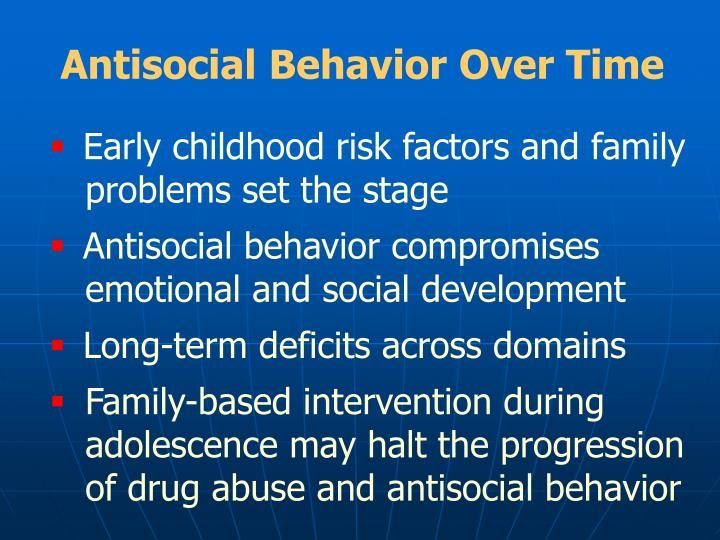 Antisocial Behavior Over Time