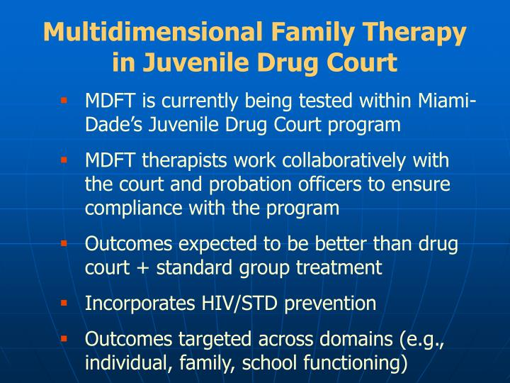 Multidimensional Family Therapy in Juvenile Drug Court