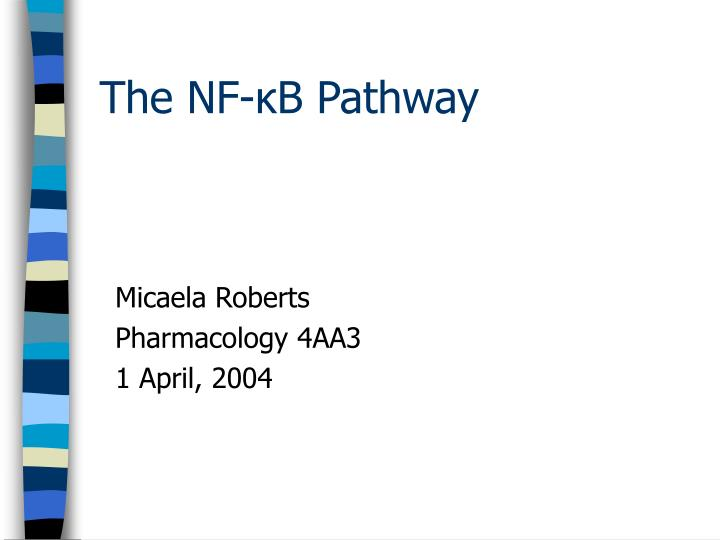 Micaela roberts pharmacology 4aa3 1 april 2004