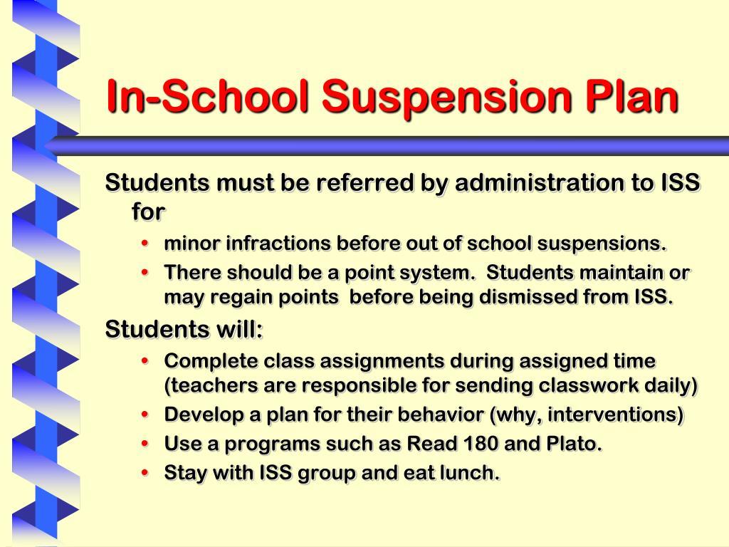 In-School Suspension Plan