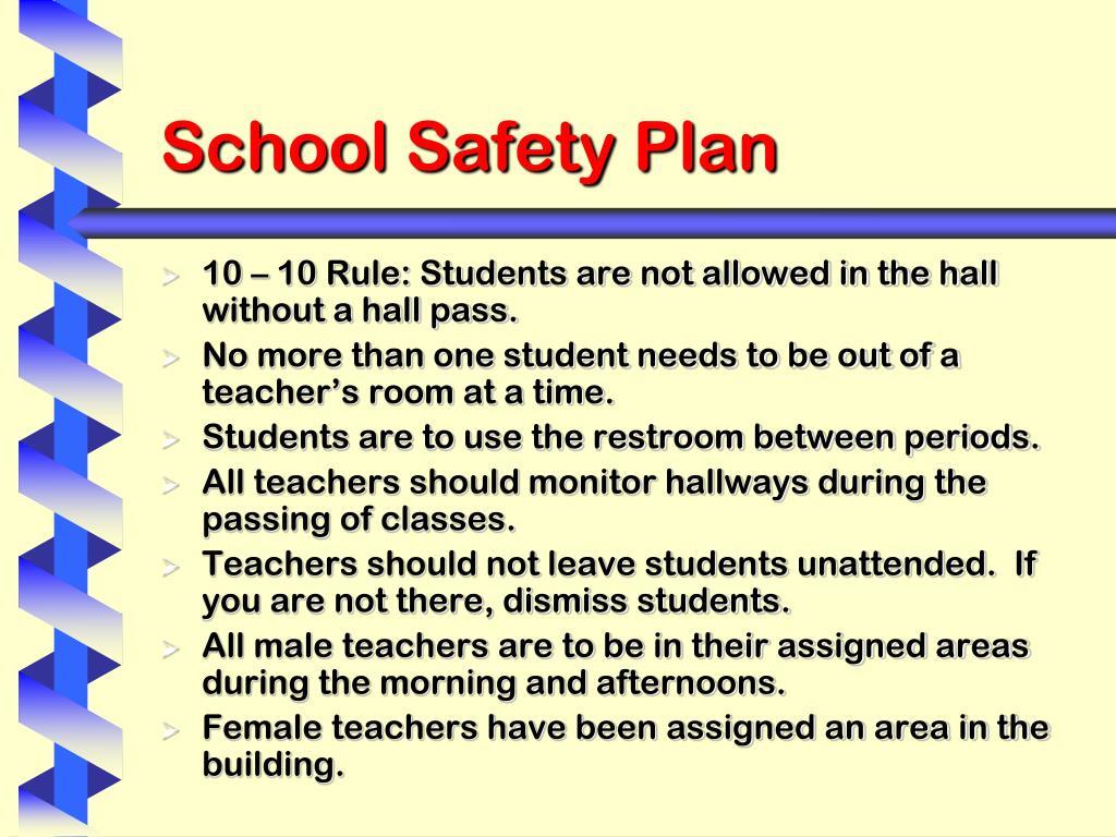 School Safety Plan